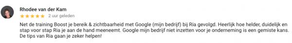 Review Google Mijn Bedrijf Training