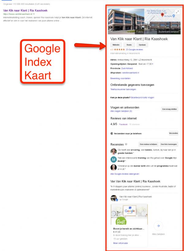 Google Kaart - Google Mijn Bedrijf