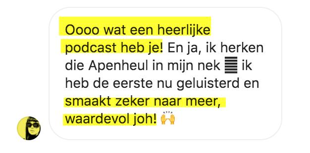 Testimonial Van Klik naar Klant Podcast