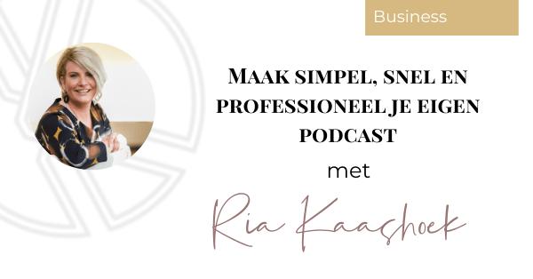 Maak simpel, snel en professioneel je eigen podcast