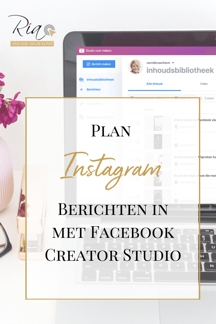 Plan je Instagram berichten in via Facebook Creator Studio