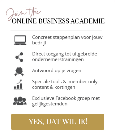 Join de Online Business Academie banner