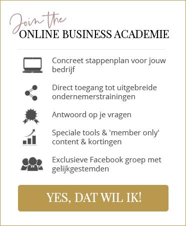 Join de Online Business Academie banner