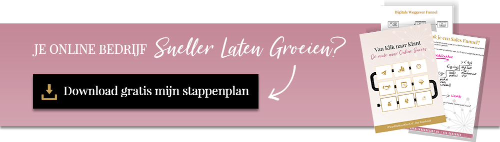 Online Marketing Stappenplan