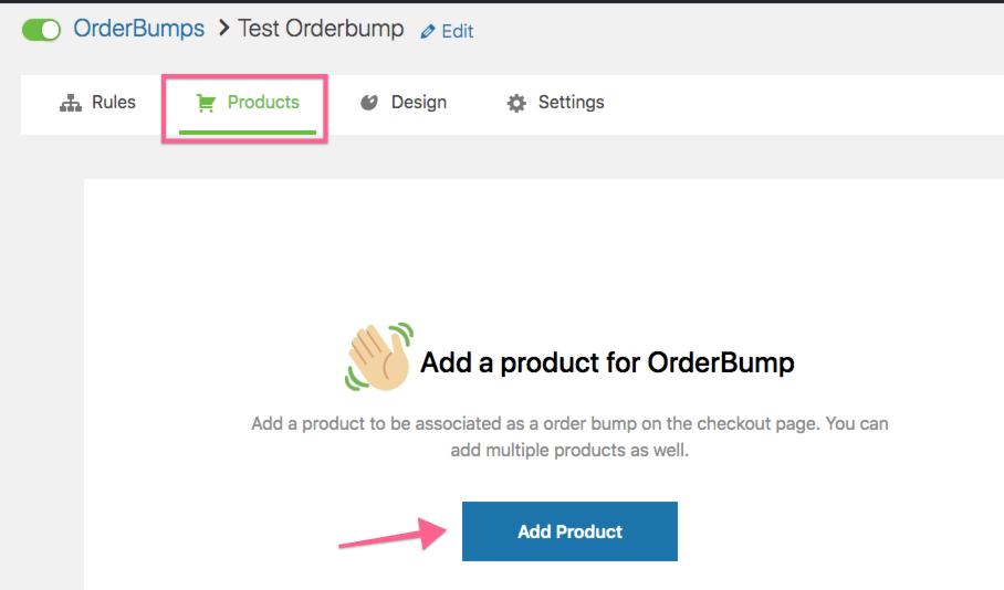 Voeg een product toe aan je orderbump