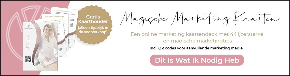 Blogbanner magische marketing kaarten - online marketing kaarten set
