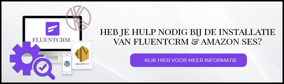 Hulp bij installatie FluentCRM en Amazon SES