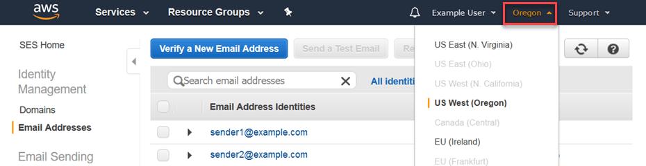 stap 5. Amazon SES email adres verifieren