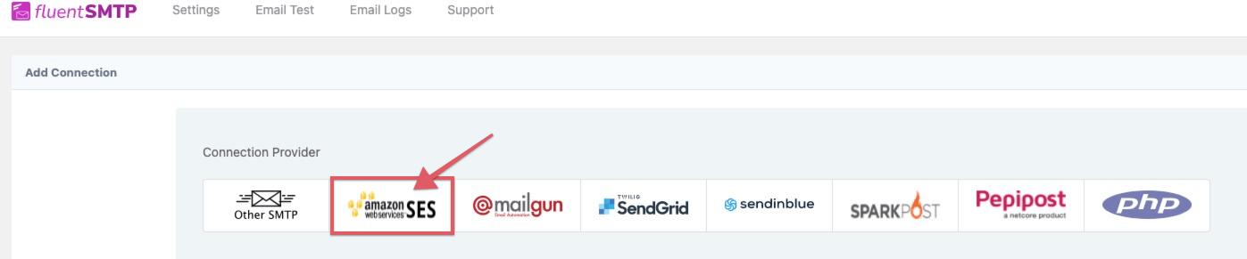 FluentSMTP opzetten met een Amazon SES account