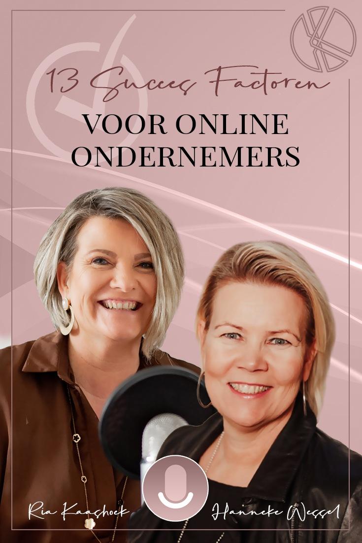 13 Succesfactoren voor online ondernemers met Hanneke Wessel