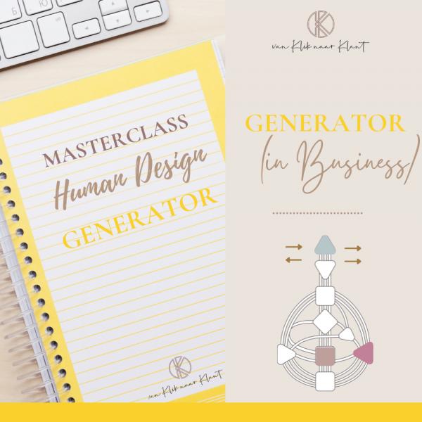 Masterclass Human Design Generator (in business)