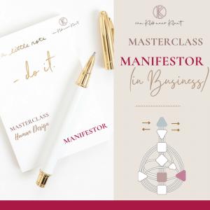Masterclass Human Design Manifestor (in business)